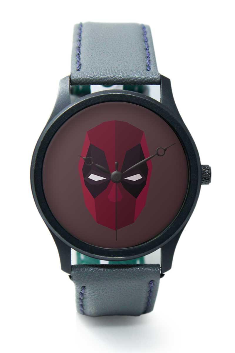 Buy bigowl deadpool minimal face analog mens wrist watch for Minimal art wrist watch