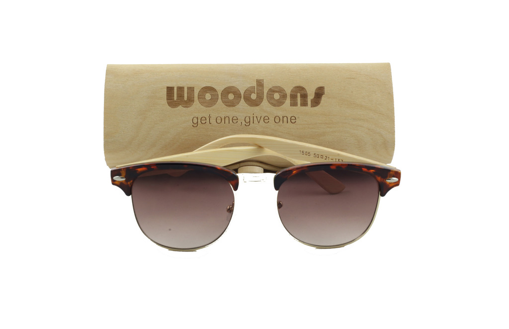 Woodons Vitage Clubmaster Leopard Sunglasses Zl170-7