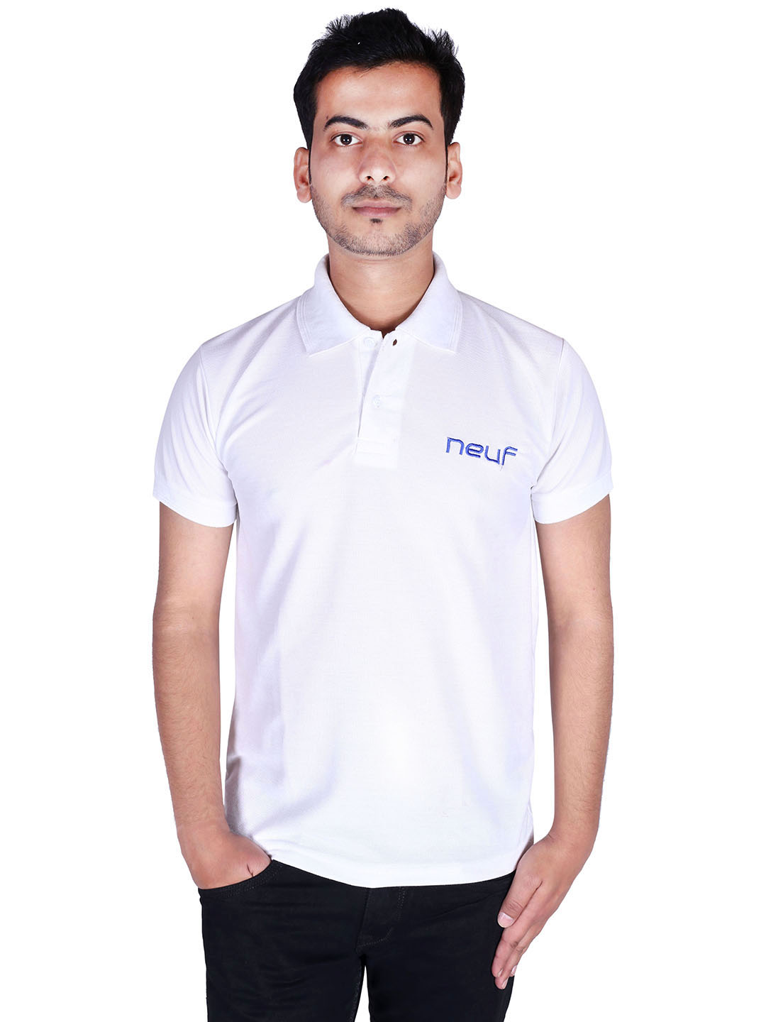 triplemart Solid White Polo Men`s T-shirt