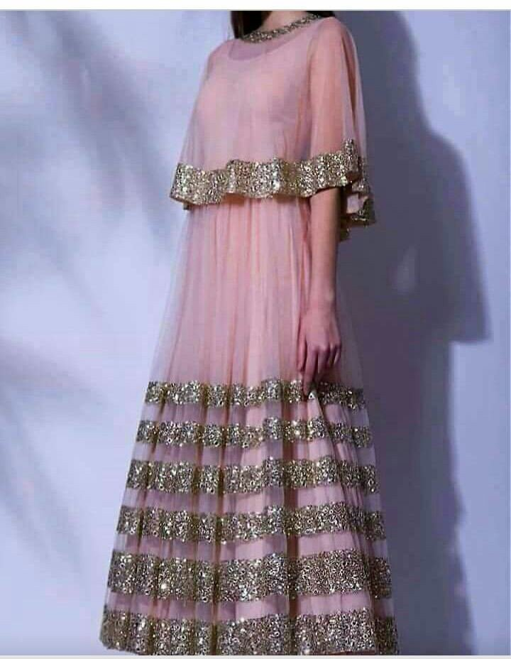 Buy New Designer Pink Gown - zari pink gown- at 60% off Online ...