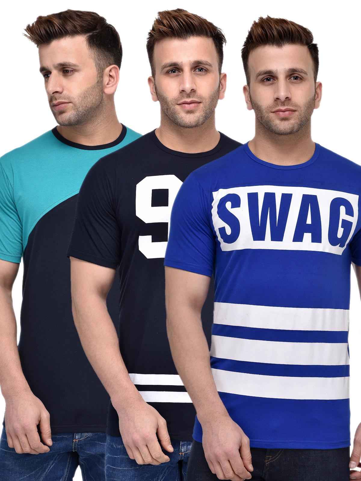 leemarc Lee Marc Men's Solid Casual T Shirt 3combo_t-shirt_swag96navygreen