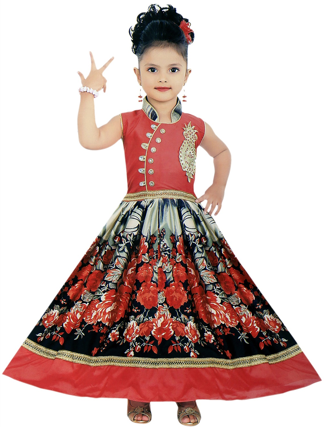 Buy Cute Fashion Kids Girls Baby Dress Princess Satin and ...