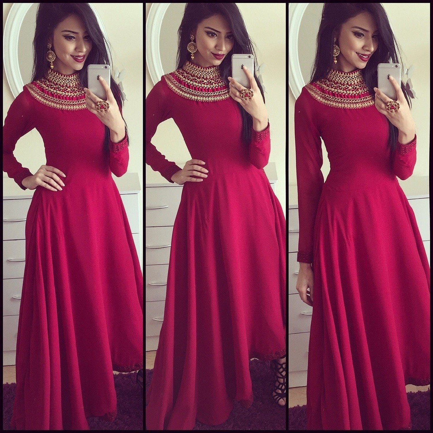 Buy Womens Raw Silk Ethnic Gown at 73% off in India - Kraftly - June ...