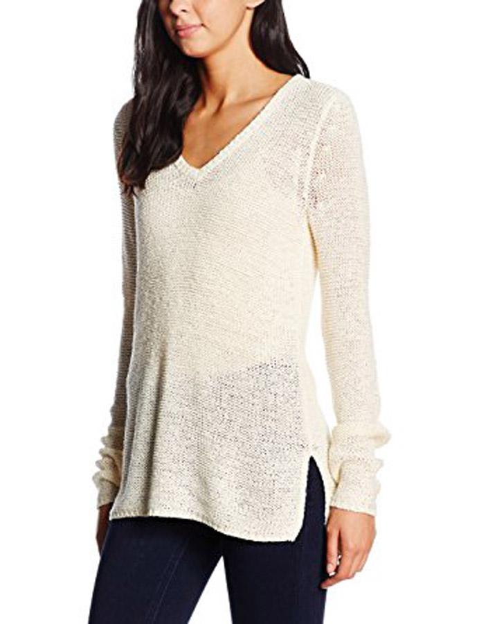yashshopee Estance Wool Solid Cream Sweater