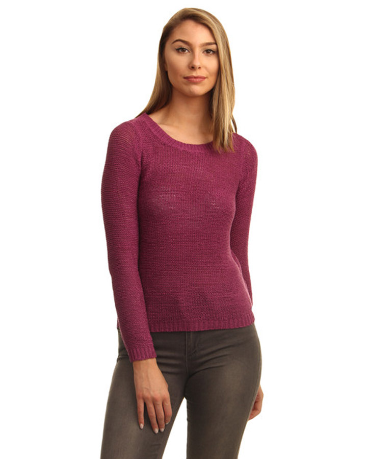 yashshopee Estance Wool Solid Long Sleeves Strawberry Sweater