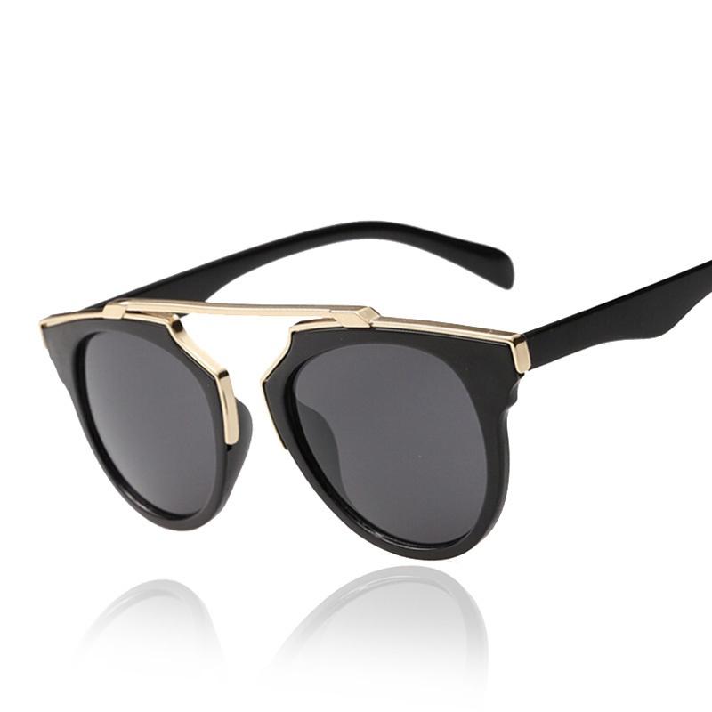 596ed4f7ed Sunglasses Black Fancy Metal Frame Goggles