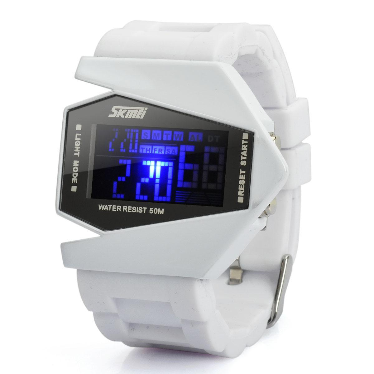 Watch For Men Latest Military Army Texture 7 Light Display Digital Black  Dial With White Band Mens And Boys Watch-Latest Designer Dual Dial Watch By  My Time ... c2d1212e55
