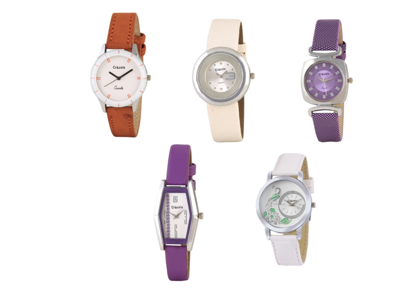 Crazeis Analog Watch Combo Of 5 For Women_090