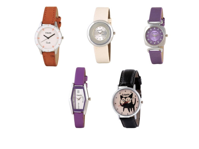 Crazeis Analog Watch Combo Of 5 For Women_087