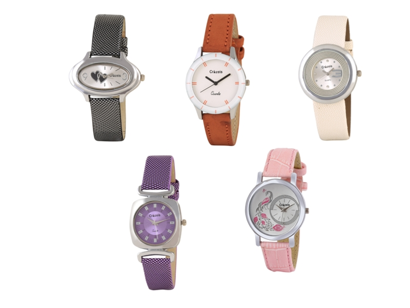 Crazeis Analog Watch Combo Of 5 For Women_078