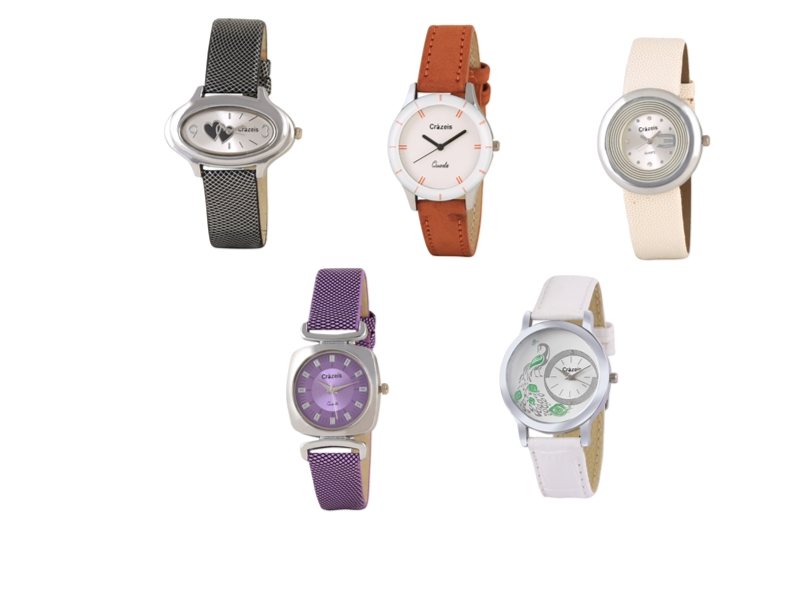 Crazeis Analog Watch Combo Of 5 For Women_077