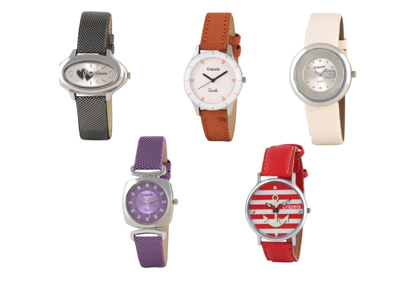 Crazeis Analog Watch Combo Of 5 For Women_072