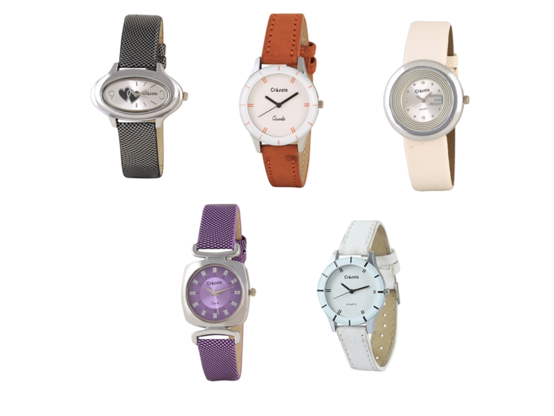 Crazeis Analog Watch Combo Of 5 For Women_069