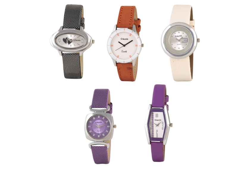 Crazeis Analog Watch Combo Of 5 For Women_063