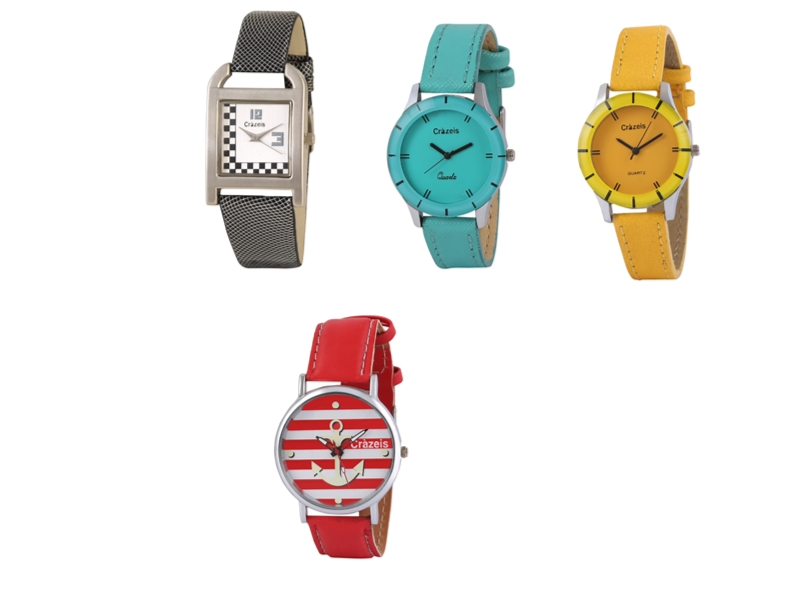 Crazeis Analog Watch Combo Of 4 For Women_037