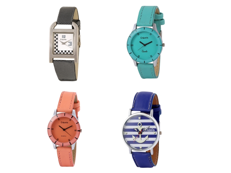 Crazeis Analog Watch Combo Of 4 For Women_030