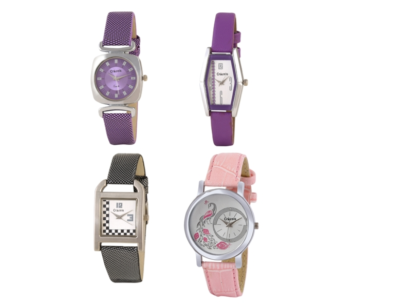 Crazeis Analog Watch Combo Of 4 For Women_023
