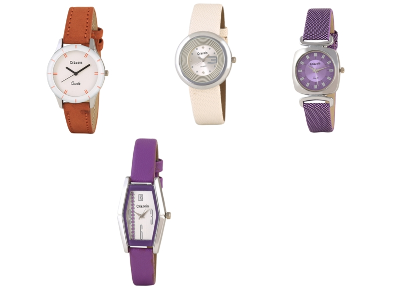 Crazeis Analog Watch Combo Of 4 For Women_001