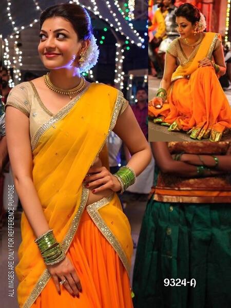 blueretro Exclusive Extented Designer Saree Collection By Radharani Fab_orange_vrrs-216-orange