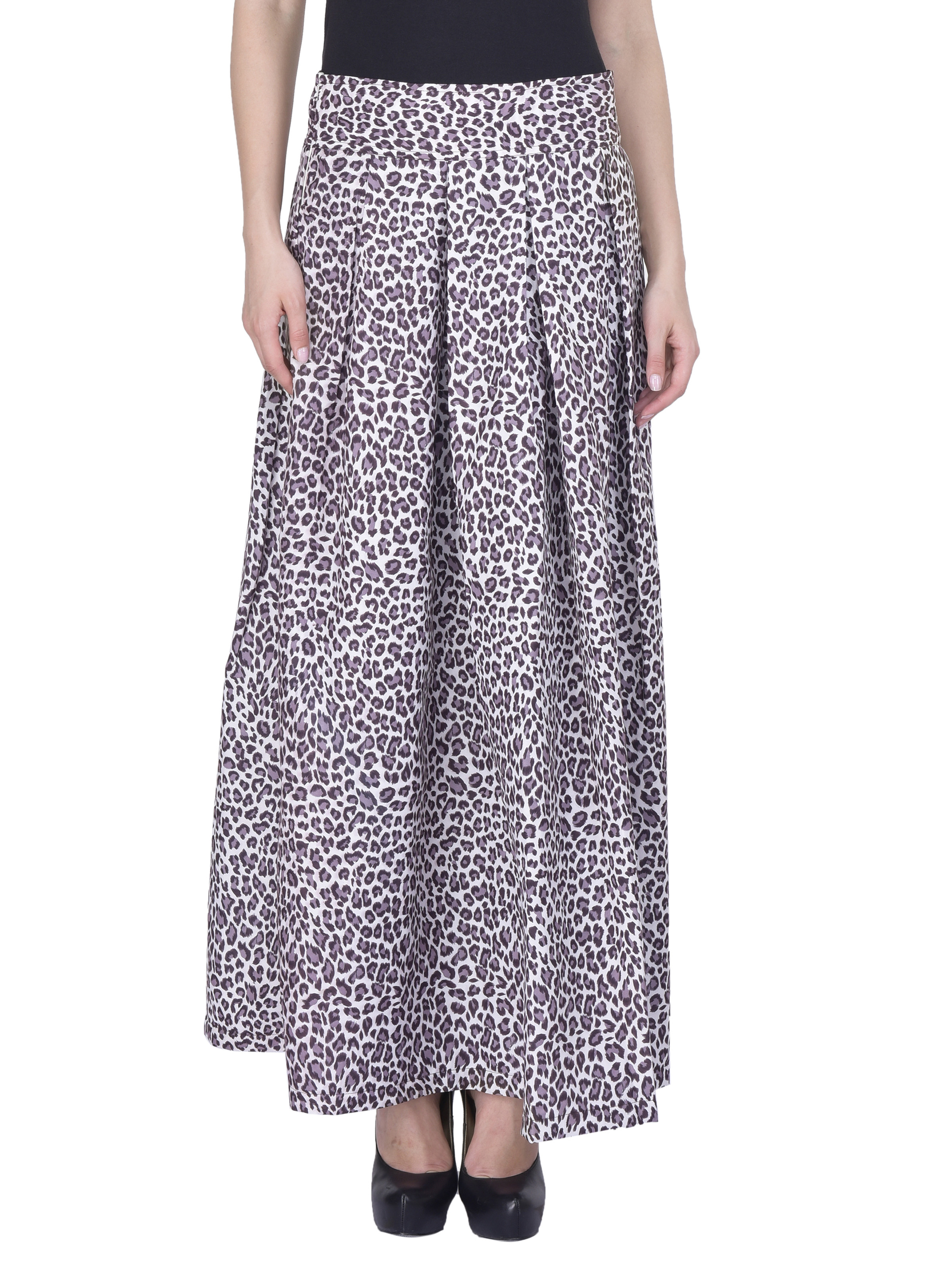 chicflic2 Women Floral Maxi Pleated Skirt Sk164d