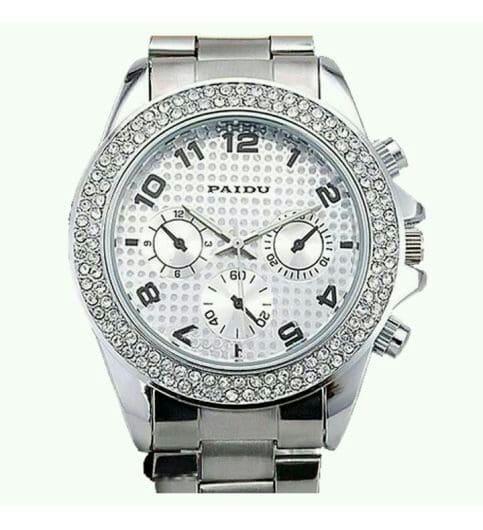 parienterprise Silver Diamond Watch For Women
