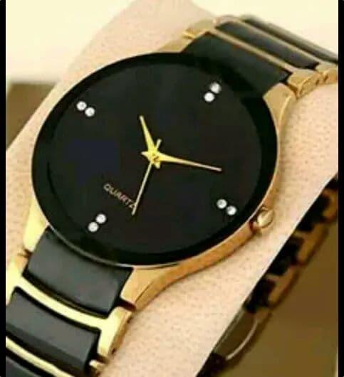 parienterprise Watch Golden Analogue Mens Watch