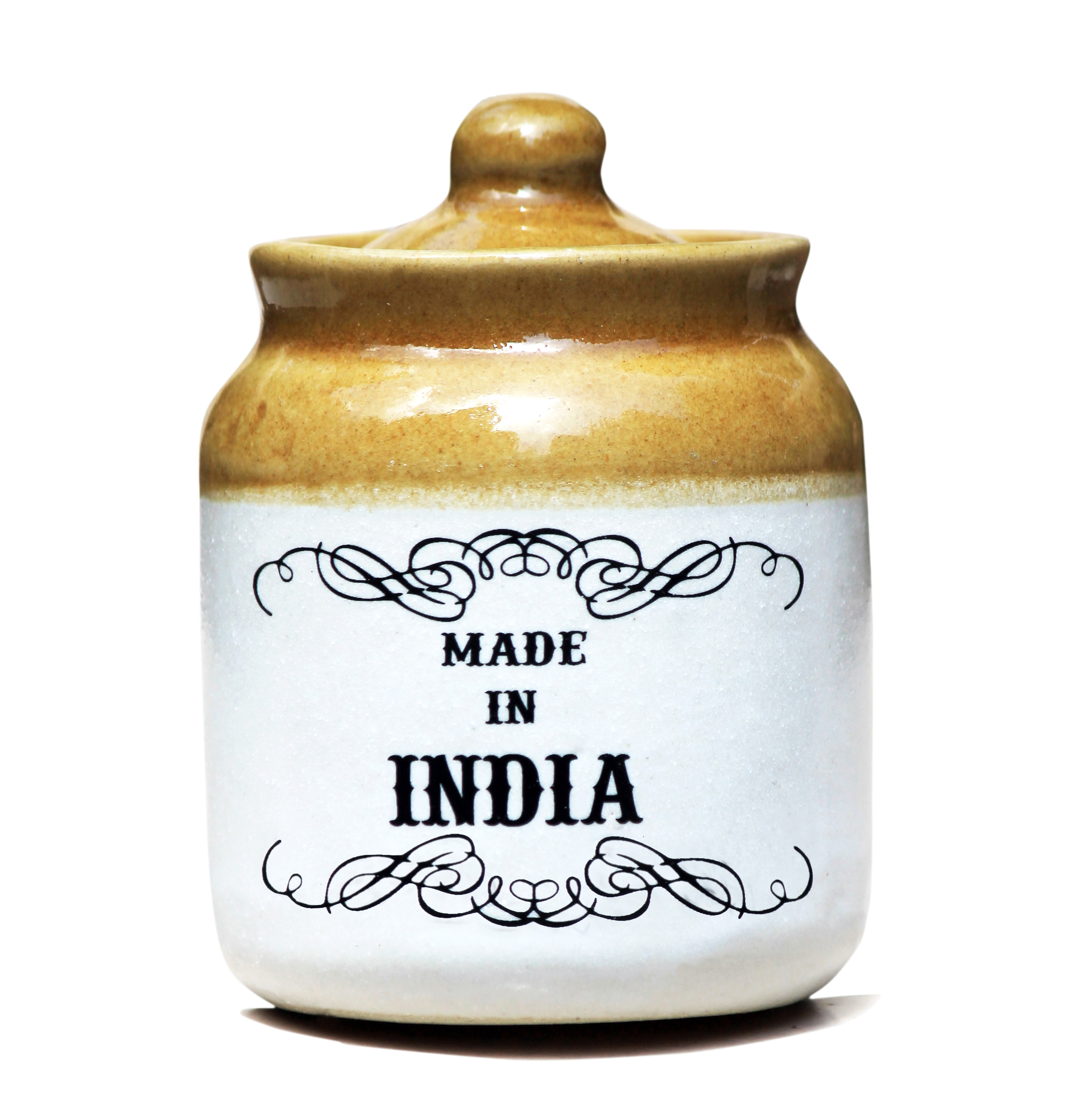 buy made in india ceramic jar at lowest price mainin23134wfk21431 kraftly. Black Bedroom Furniture Sets. Home Design Ideas