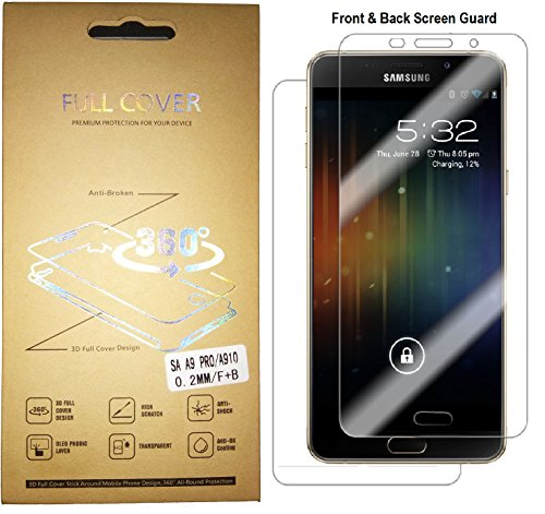 marshlandtechnology Samsung Galaxy A9 Pro Screen Guard Anti-shock Oleo Phobic Coating Full Coverage Front & Back Full Protection Latest Mobile Screen Protector Hd-transp