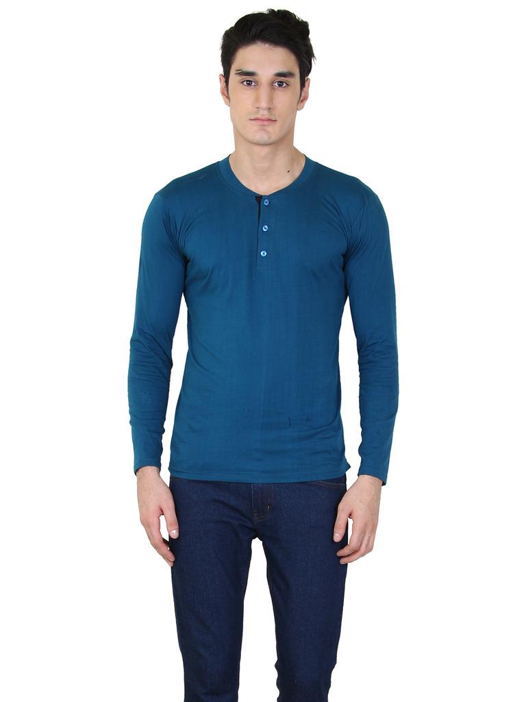 rkenterprises3 Rk Henely Full Sleeve Peacock T Shirt