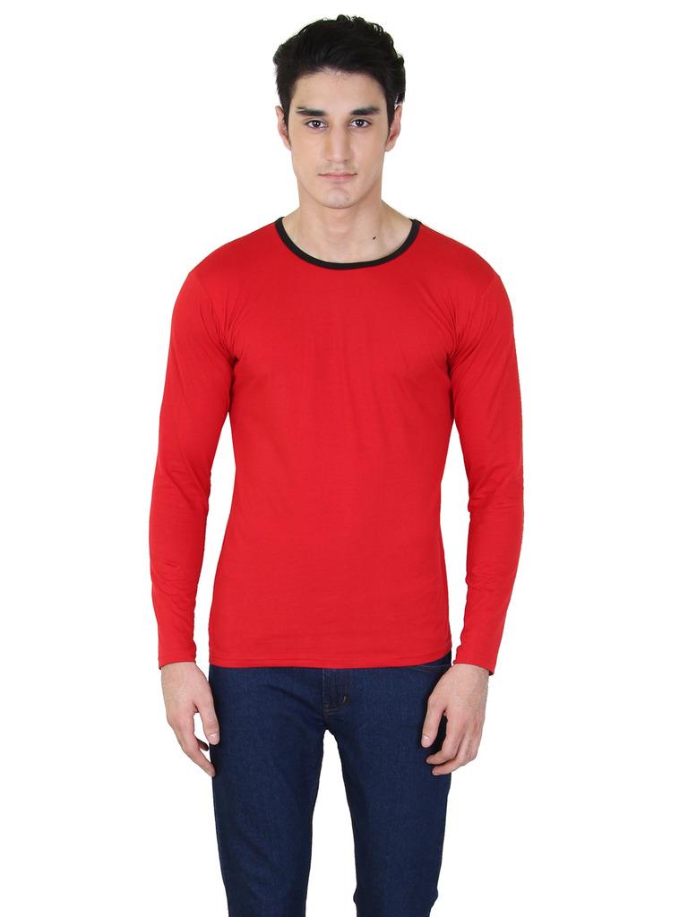 rkenterprises3 Rk Round Neck Full Sleeve 1091 Red T Shirt