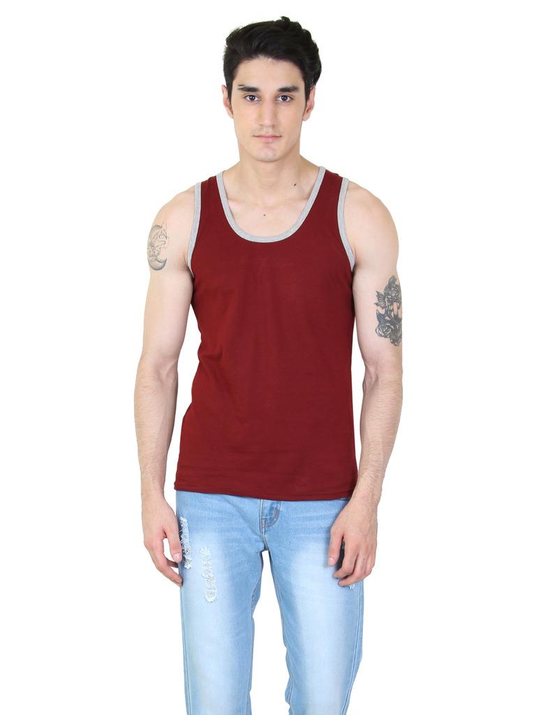 rkenterprises3 Rk Sleeveless 1092 Maroon T Shirt