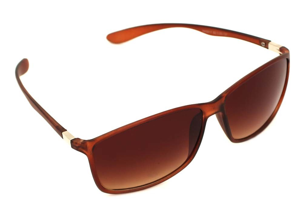 rimyrah Dark Brown Rectangular Sunglasses