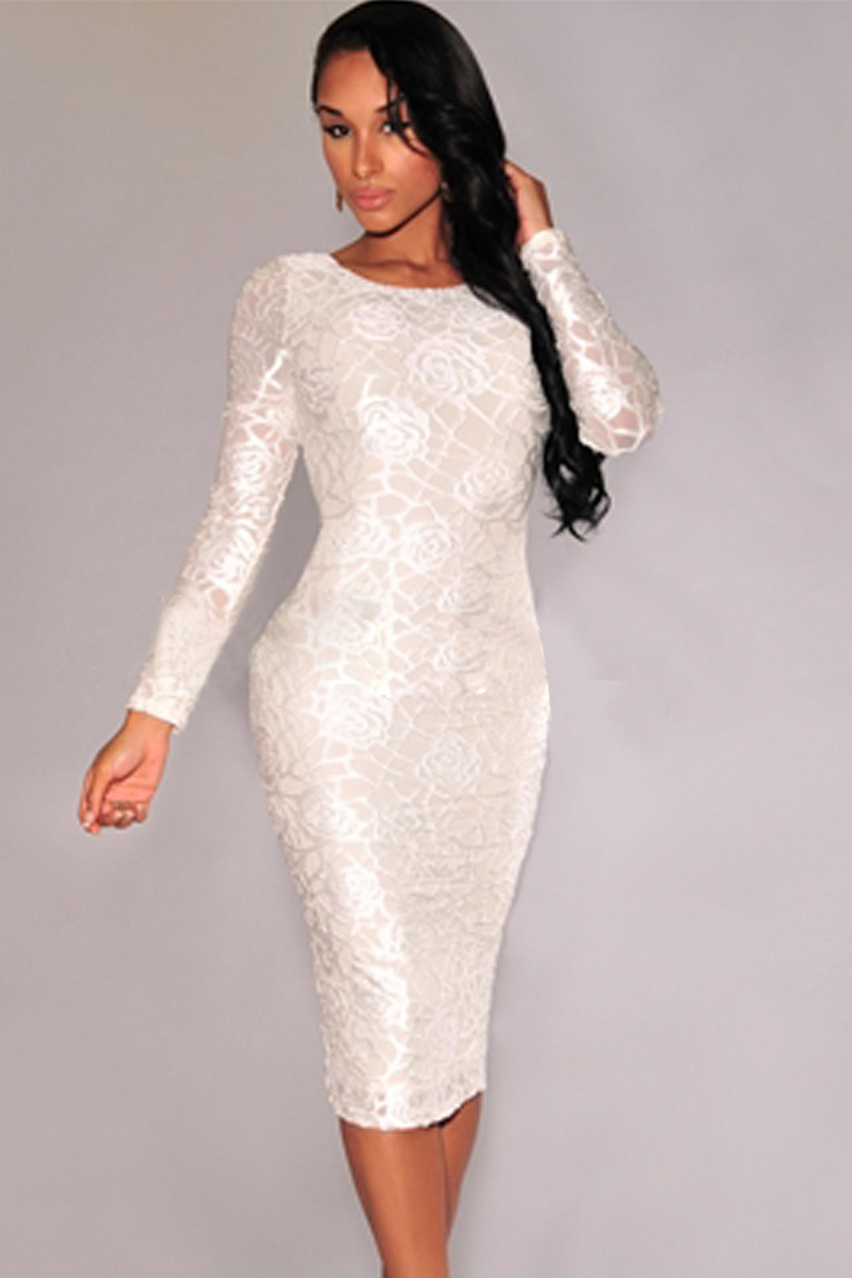 Amazon midi long bodycon sleeve dress tropical prices