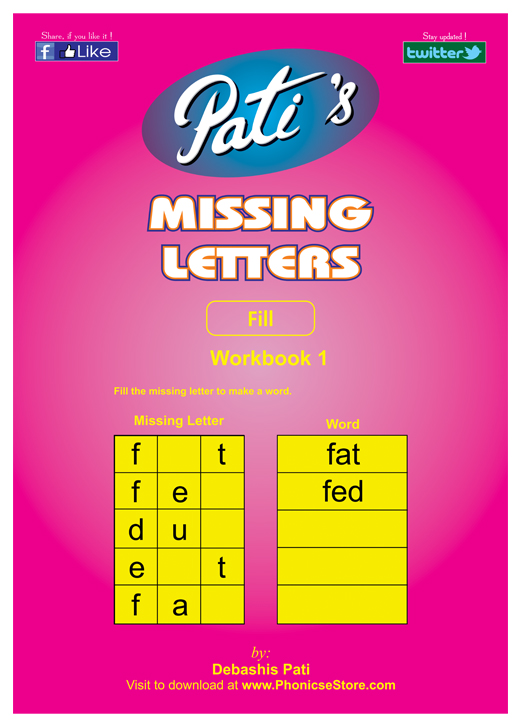 Buy Missing Letters In Words Books For Children