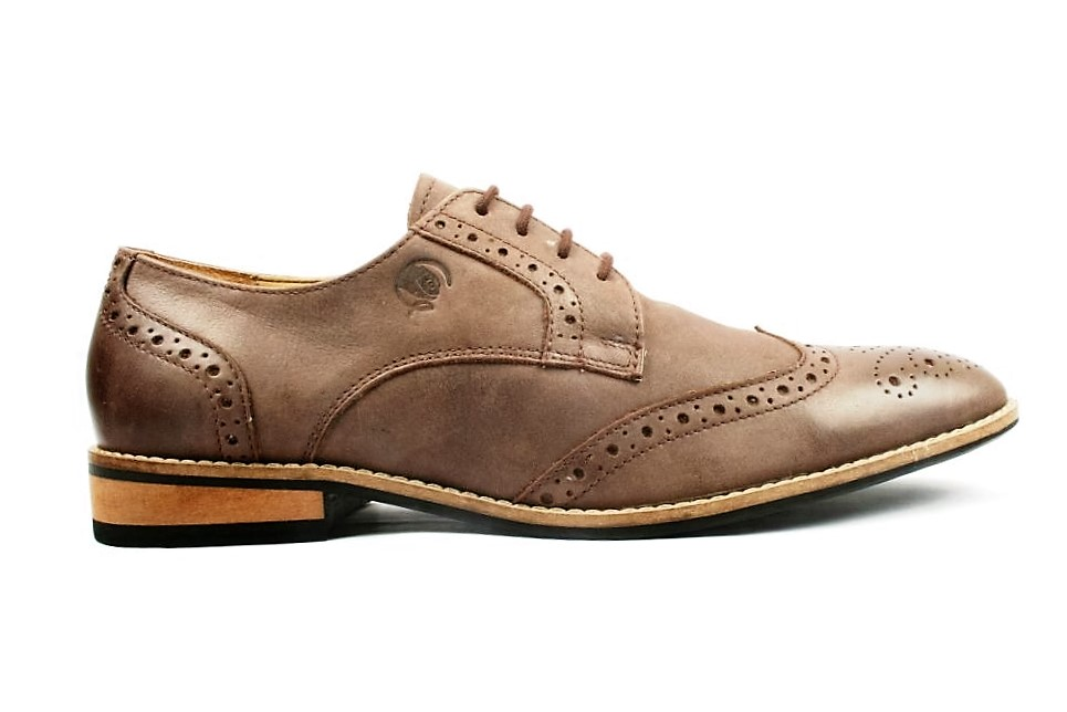 stepskartcom Gekko Brown Derby Brogue Formal Shoes