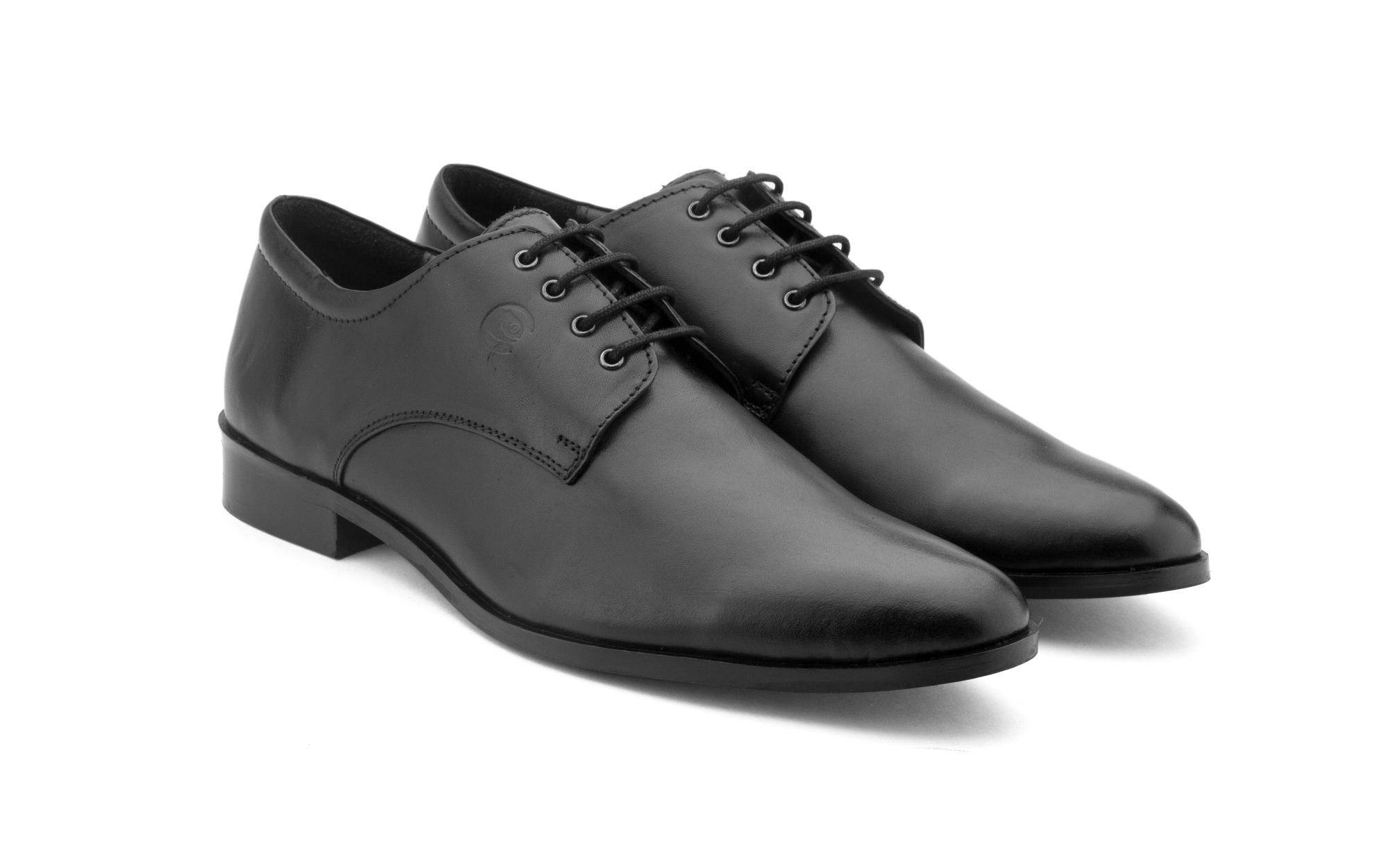 stepskartcom Gekko Menchester Black Derby Formal Shoes