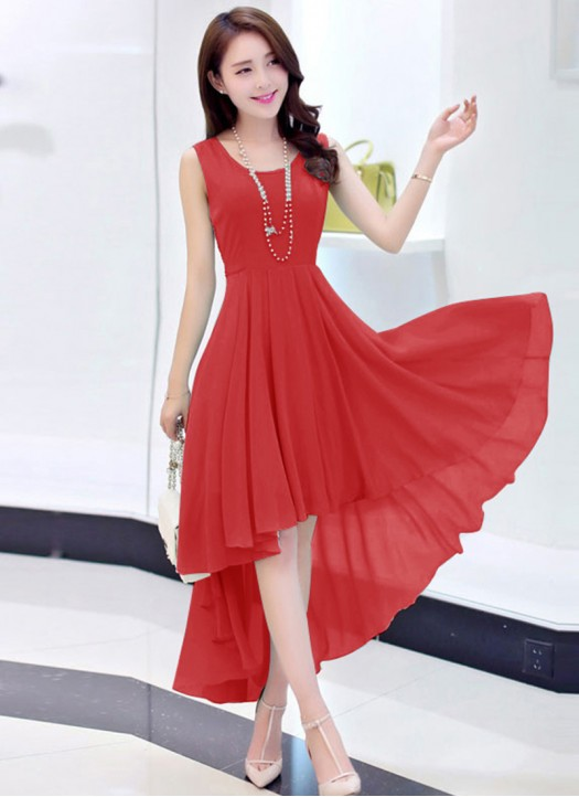 Buy Mario New Red Georgette Designer At Lowest Price