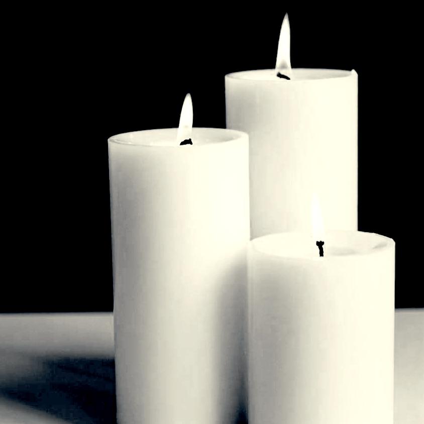 buy vanyas white pillar candle set of 3 at 43 off online