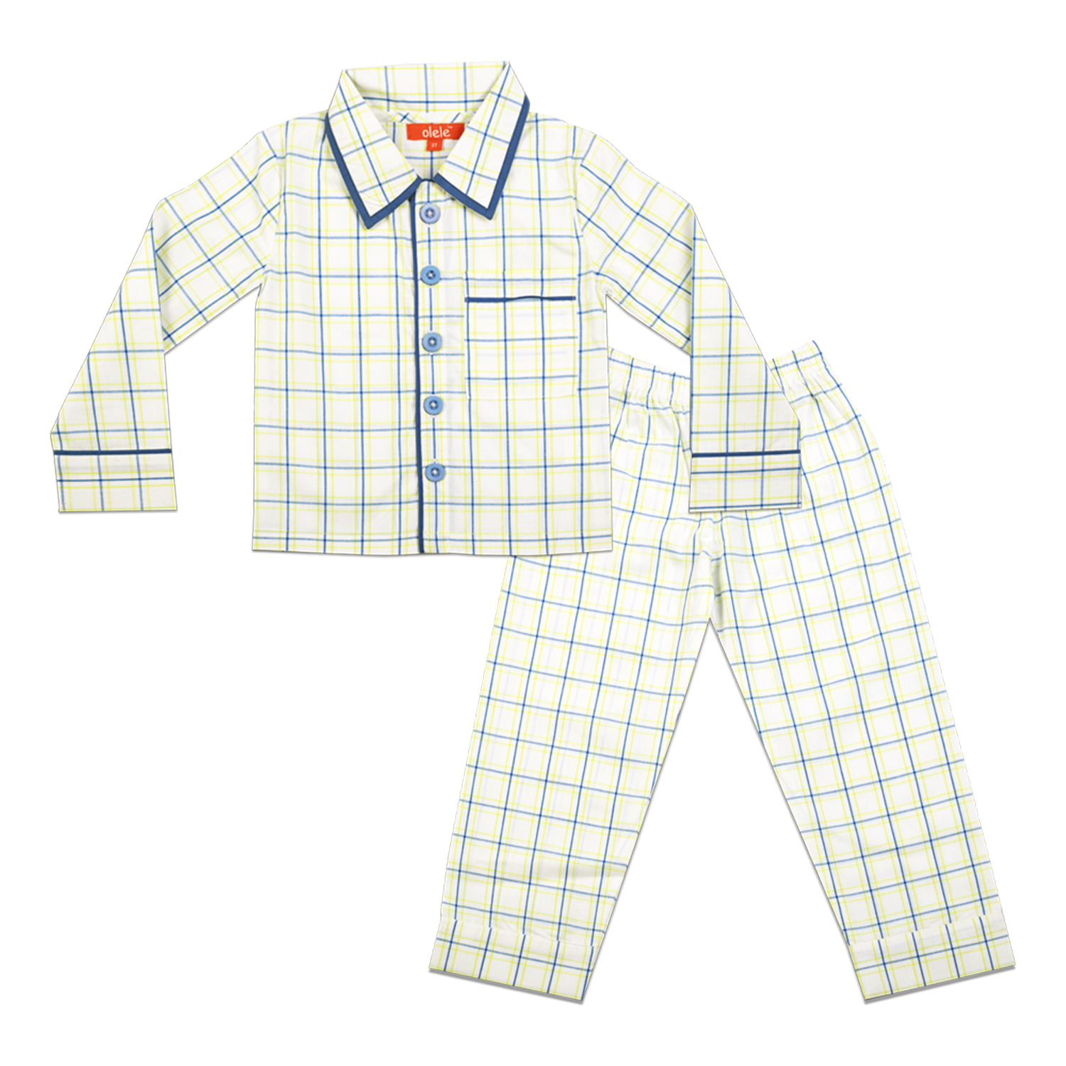 d83a53aead Olele Woven Pure Cotton Check Night Suit with Pajama