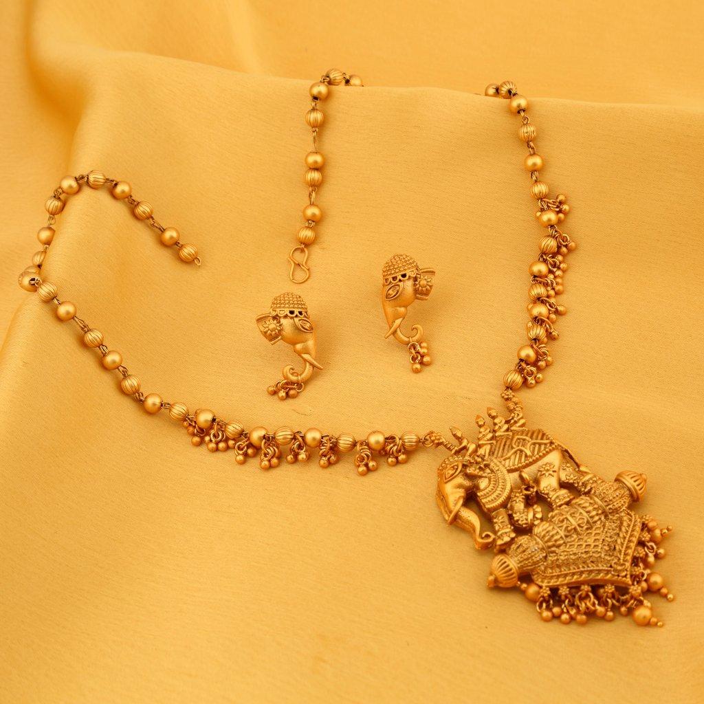 Bahubali Neck Set Amazon Gram Gold Necklace