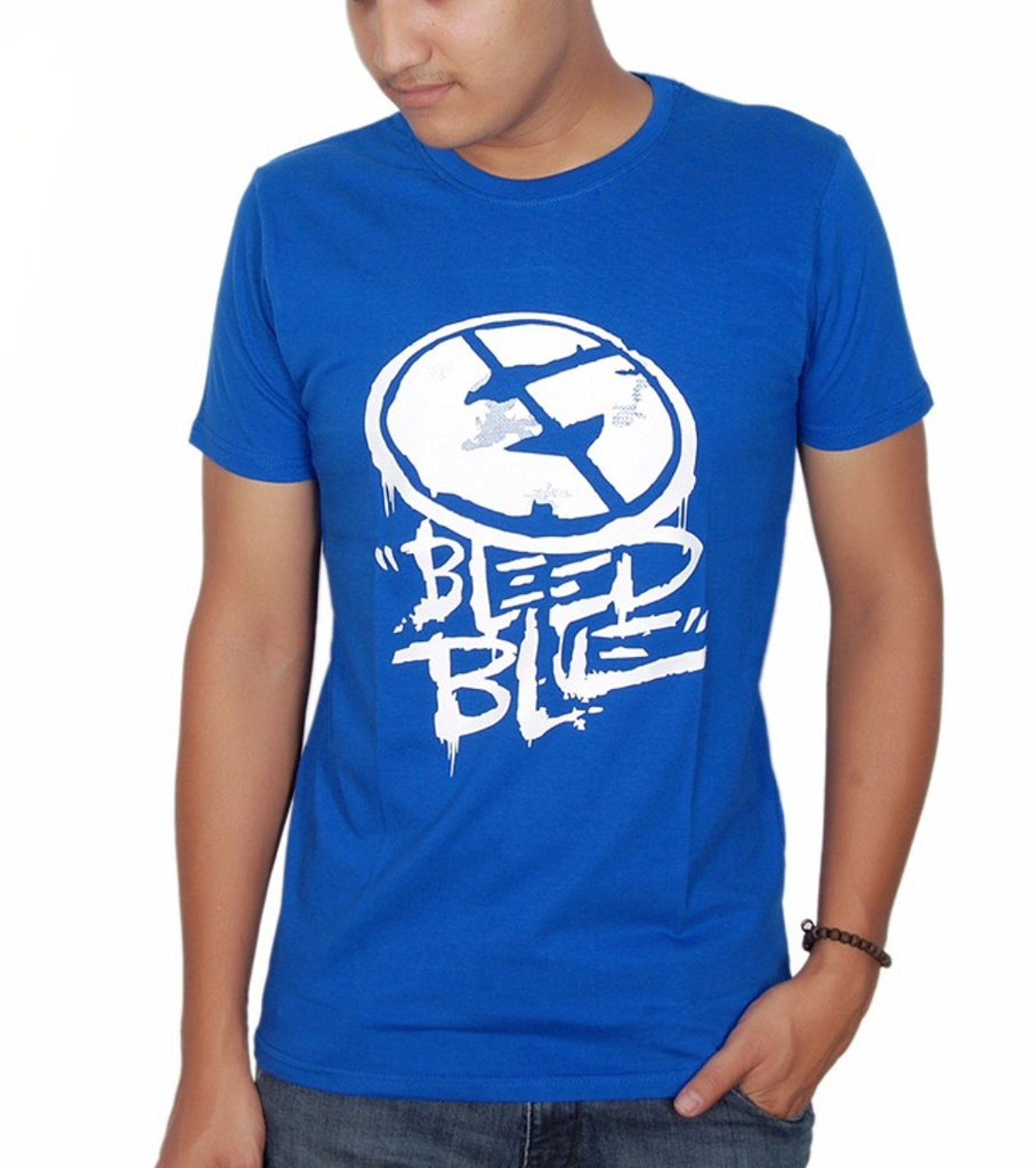 inukshukindia Inukshuk Men's Cotton T-shirt (bleed Blue)