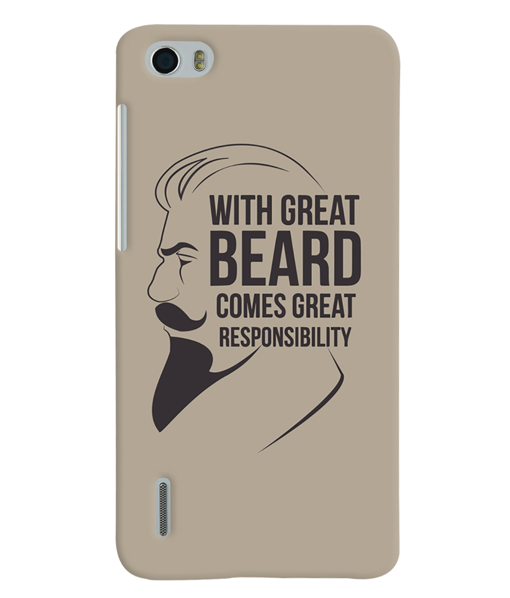 Buy Beard Quote Quirky Printed Designer Back Cover For Huawei Honor 6 Dual Sim Mobile Phone