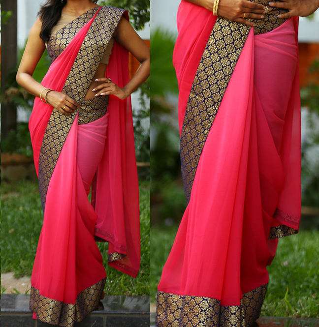Buy exclusive border party wear saree fabric double shaded for Exclusive bordering