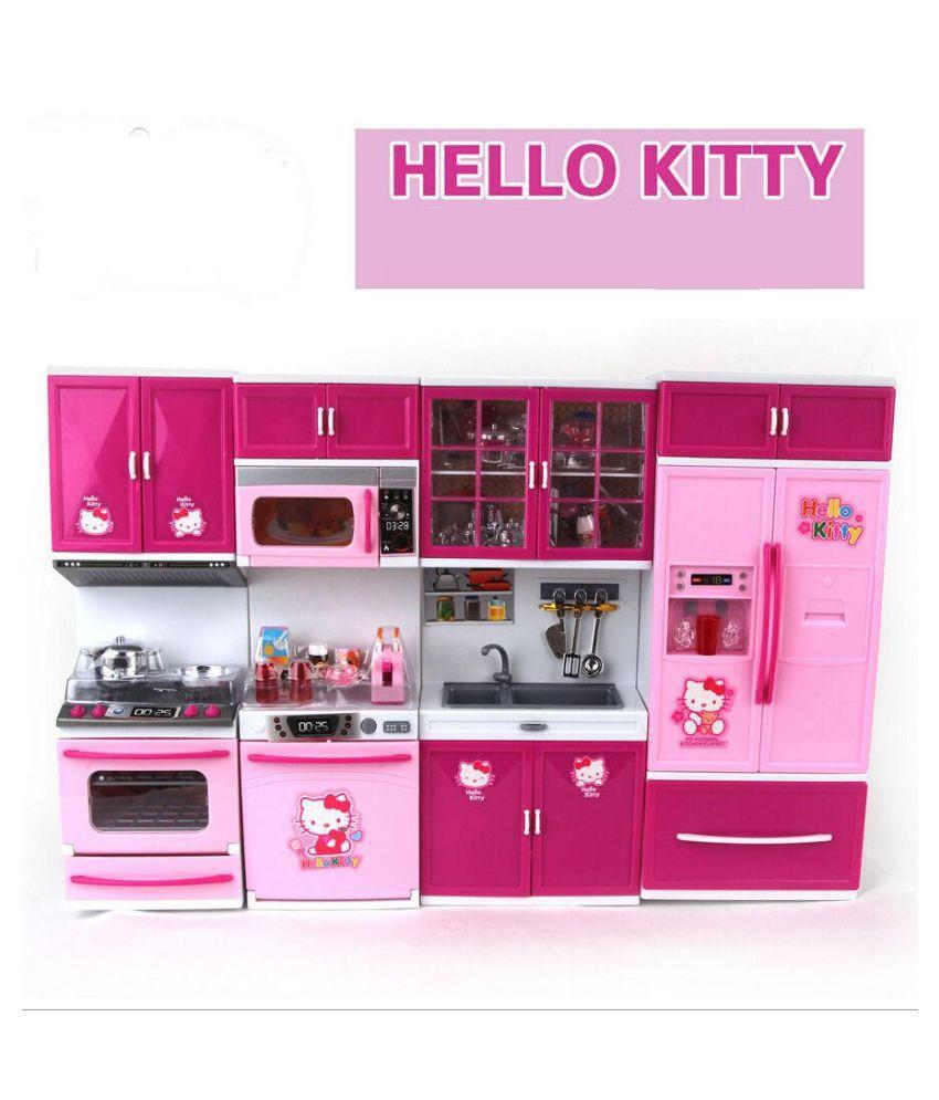 Buy Param Pink Barbie Kitchen Set At Lowest Price