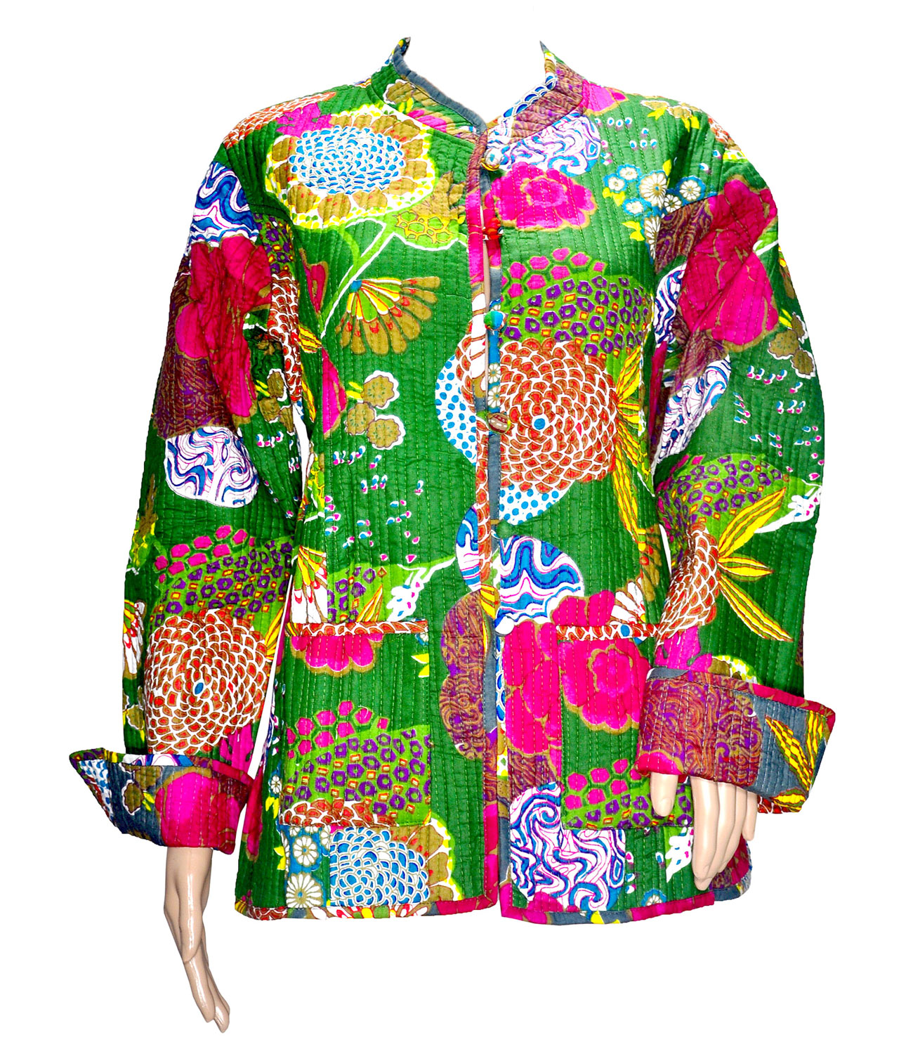 Buy Floral Tropicana Ethnic Rajasthani Pure Cotton Quilted Reversible Banjara Jackets At 43% Off ...