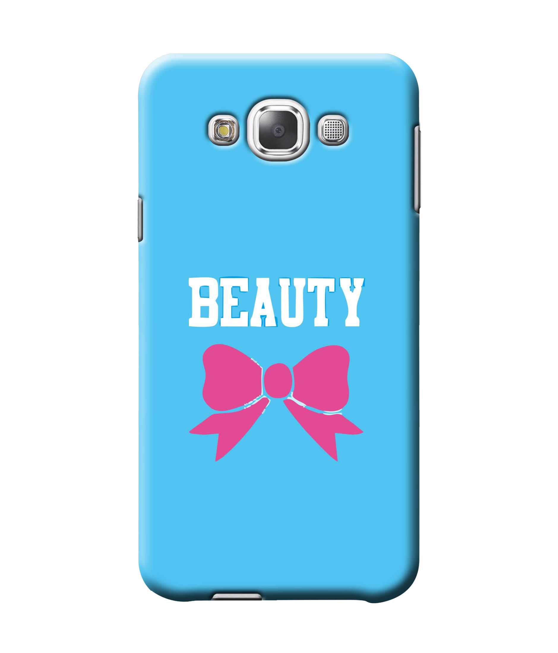 caseophile2 Samsung Galaxy E7 Beauty Blue Mobile Case