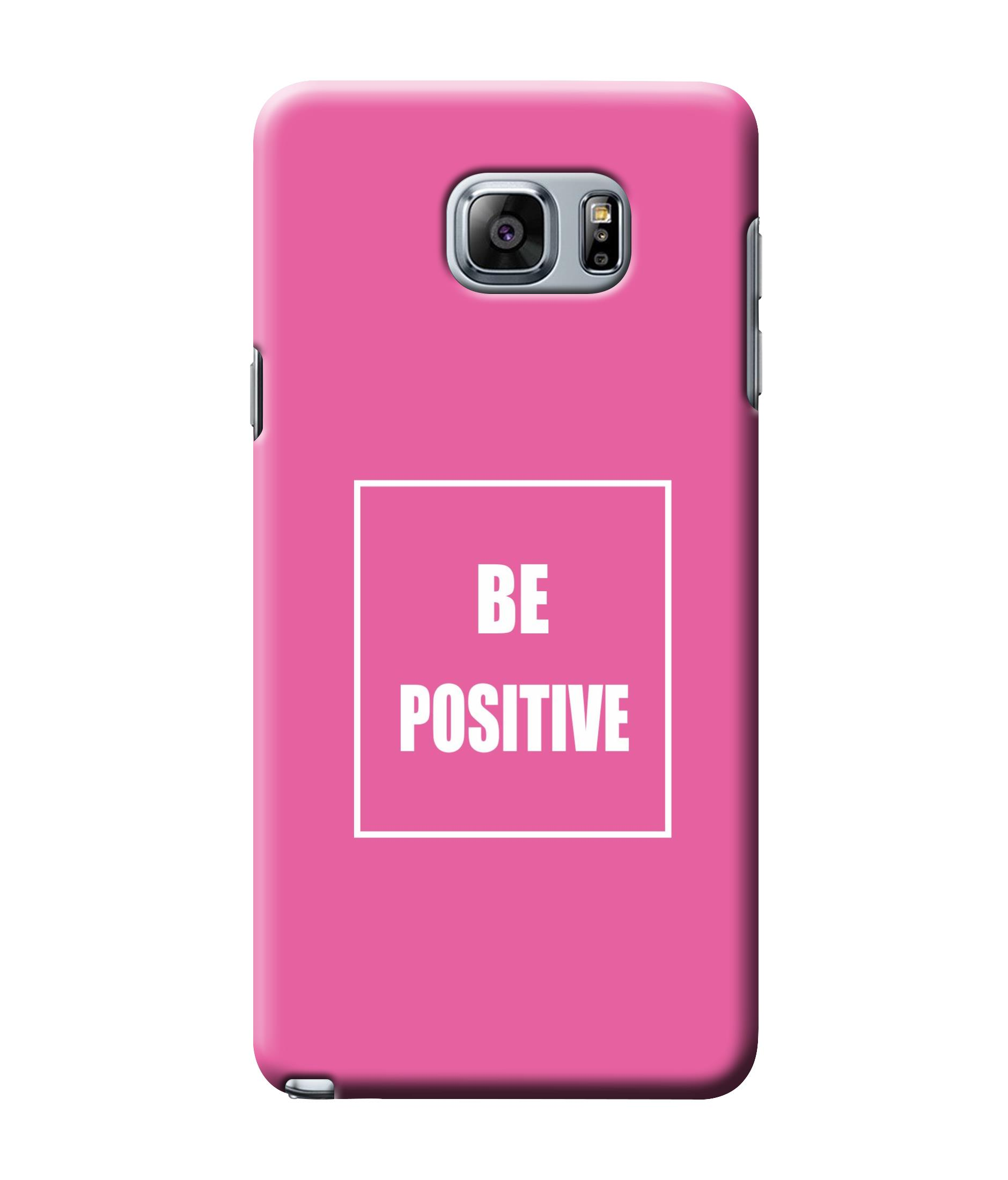 caseophile2 Samsung Galaxy Note 5 Be Positive Pink Mobile Case