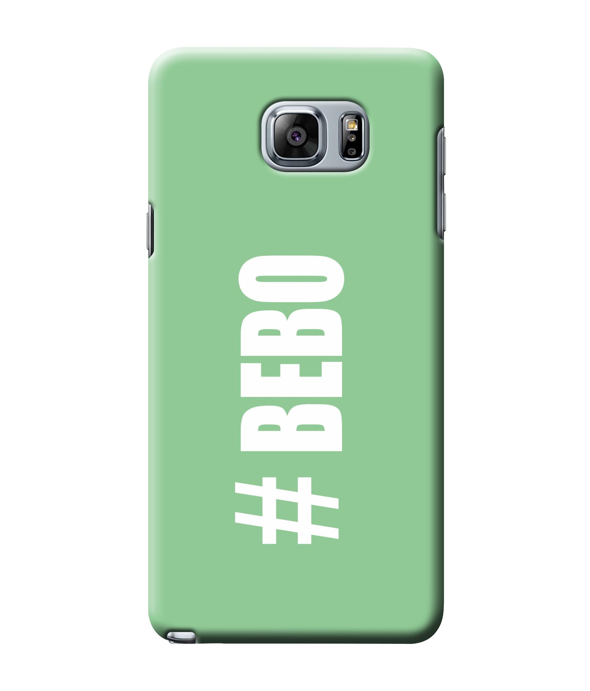 caseophile2 Samsung Galaxy Note 5 Bebo Green Mobile Case