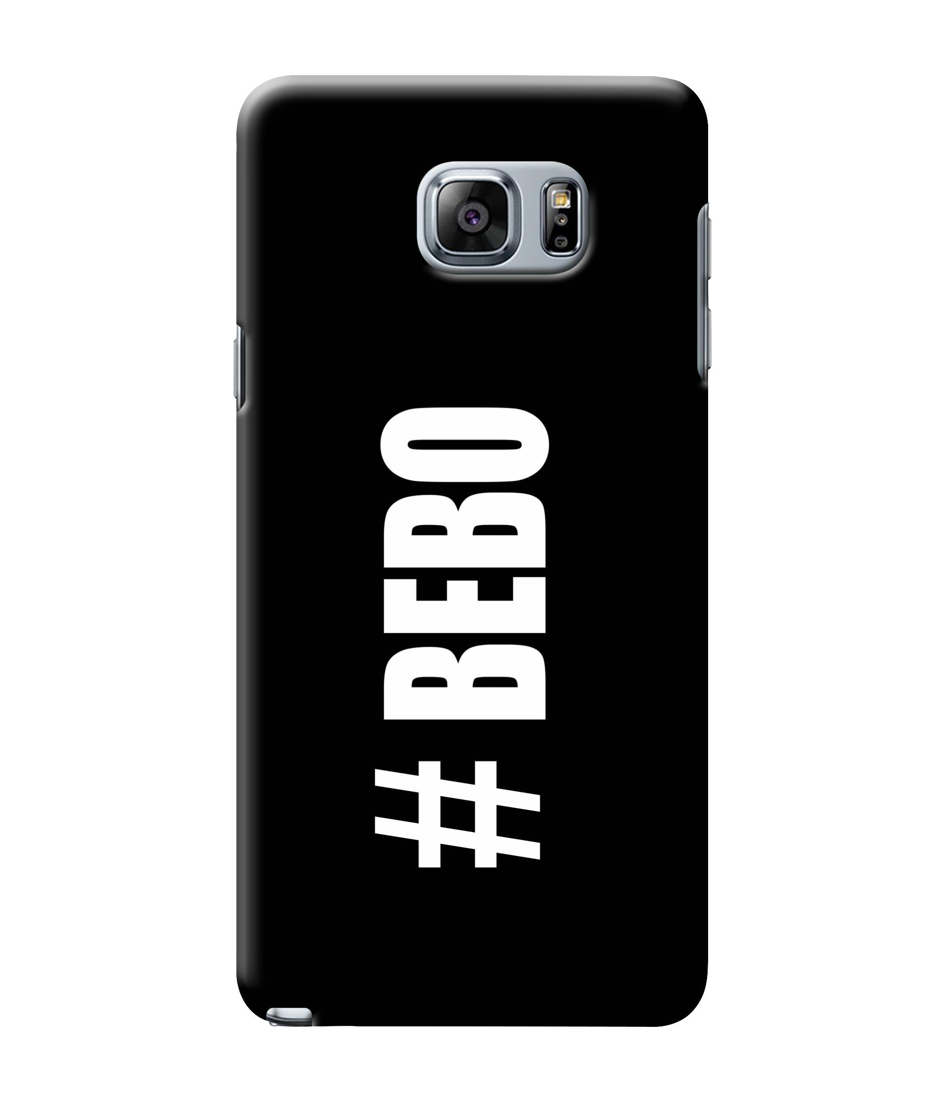 caseophile2 Samsung Galaxy Note 5 Bebo Black Mobile Case