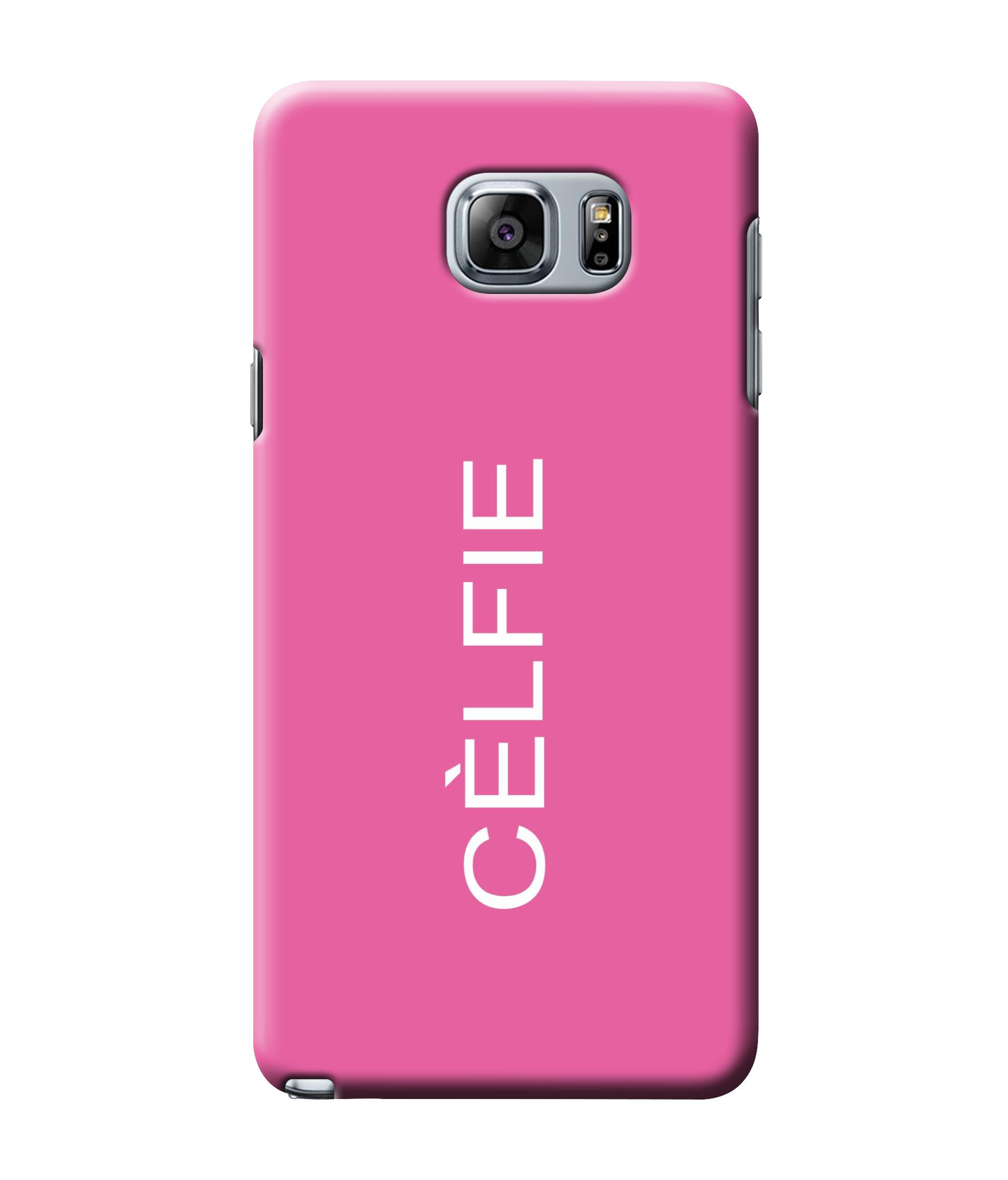 caseophile2 Samsung Galaxy Note 5 Celfie Pink Mobile Case